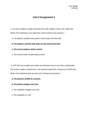 Unit4 Assignment1