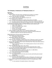 Odyssey essay questions answers