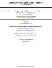 Bradshaw & Roseborough-Evaluationg th effectiveness of CBT (1)
