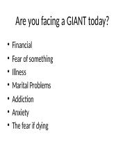 Are you facing a GIANT today 7 15