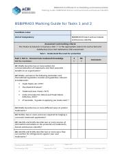 BSBIPR403 Marking Guide.docx