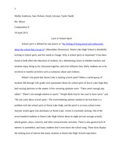 School Spirit Essay