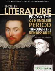 (The Britannica Guide to World Literature) J. e. Luebering - English Literature from the Old English