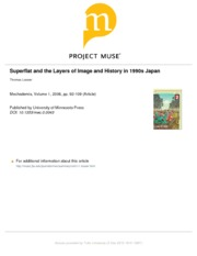 Superflat and the Layers of Image and History in 1990s Japan
