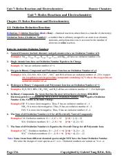 Chapter 19 Redox Reactions and Electrochemistry Notes (answers)