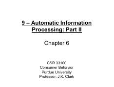 9 - Automatic Information Processing - Part 2