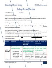 NR305_Discharge_Teaching_Plan_FormEsther Toussaint_3_23_15.docx