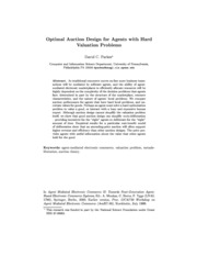 Computational Mechanism Design Optimal Auction Design