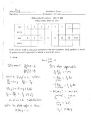 2010 Spring Final Exam Solutions
