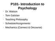 Overview of Psychology Lecture Slides