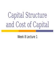 1 Cost of Capital class