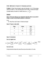 ENSC 388 Spring 2012 Tutorial 1 Solutions