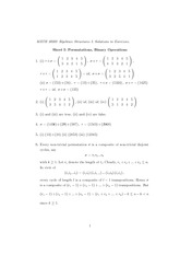 Excercise Sheet 1 Solution