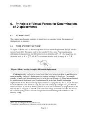 06 Principle of Virtual Forces for Determination of Displacements