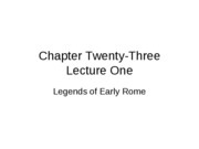 23_1 Legends of Early Rome