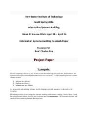 Information Systems Auditing Research Paper.docx