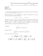 Spring 2007 - Linshaw's Class - Quiz 4