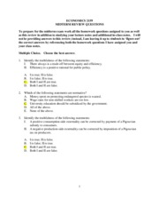 Ec2159 Midterm Review Questions-2