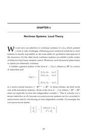 Ordinary & Partial Differential Equations - Reynolds (2000) - Chapter 3 - Nonlinear Systems; Loc