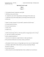 ECP 3703 uploaded Chapter 1-11 Answers