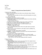AP Gov Chapter 13 pgs 464-473 Outline November 2011