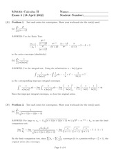 Exam 3 Solution Spring 2002 on Calculus II