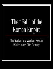 04 - The 'Fall' of the Roman Empire (edited)