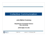 comp422-Lecture13-CollectiveCommunication