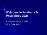 Welcome to Anatomy 'n Physiology 2221