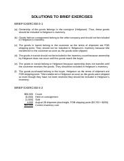 Brief Exercise Solutions - Chapter 06