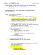 Marketing 2500 Chapter 1 Notes