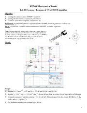 EP340_Lab8_CS_MOSFET_Amplifier