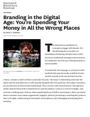 Branding in the Digital Age- You're Spending Your Money in All the Wrong Places