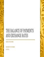 THE BALANCE OF PAYMENTS AND EXCHANGE RATES.pptx