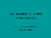 AC 231 The Pacific