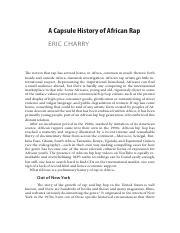 Eric Charry A Capsule History of African Rap.pdf