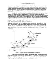 Lecture 6 Notes Kinematics