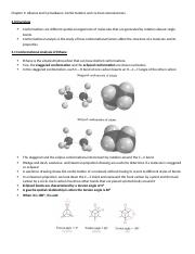 Chapter 3 Alkanes and Cycloalkanes Conformations and cis-trans stereoisomers.docx