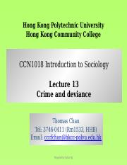 CCN1018 Lecture 13 Crime and Deviance.pptx