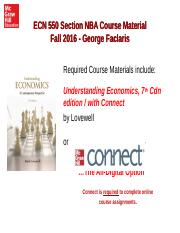 ECN550_NBA_Fall2016 Lovewell Connect Student Purchase Options Free Trial and Registration