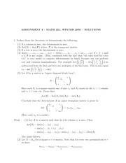 MATH 251 Assignment 4 Solutions