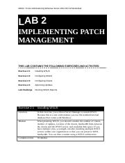 Lab Worksheet Lesson 02 Implementing Patch Management