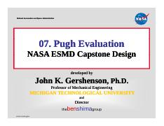 Pugh Evaluation_NASA