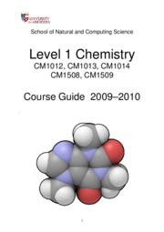 Chemistry level-1 Course guide 09-10
