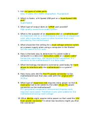 Chapter 3 Questions - Chapter 3 Questions 1 What are the three ...