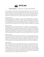 SPTE 380 -- Marketing Plan (Written Assignment)
