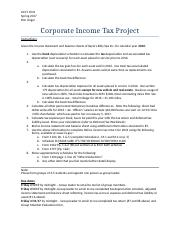 Corporate tax project Instructions Spring 2017 (2)