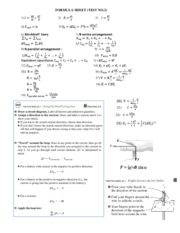 Equation Sheet_Test 2