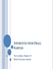 Week 12_Inferences from Small Samples.pdf