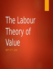 The Labour Theory of Value2